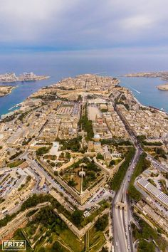 Floriana with Malta's Capital, Valletta in the background. Malta's magnificent natural harbour. Malta History, Malta Valletta, Malta Island, Archipelago, Maltese, City Photo, Beautiful Places, Tours, Travelling