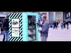 Fast Fashion Vending Machine In Berlin Shows Consumers How Their Cheap Clothes Are Really Made Fast Fashion, Cheap Fashion, Euro, Cheap Shirts, T Shirts, Good News, Berlin, Der Handel, Guerrilla Marketing