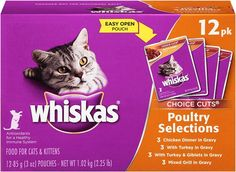 WHISKAS CHOICE CUTS Wet Cat Food Pouches ** Continue to the product at the image link.
