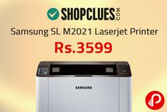 Shopclues Special Deal offers Samsung SL M2021 Laserjet Printer White @ Rs. 3599. The Samsung SL-M2021 is easy to use laser printer which is designed to handle all your printing needs. The hassle-free design uses a One touch function which prints the content of your screen with a single touch of a button.   http://www.paisebachaoindia.com/samsung-sl-m2021-laserjet-printer-rs-3599-special-deal-shopclues/