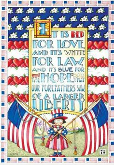 Red White  Blue = Liberty