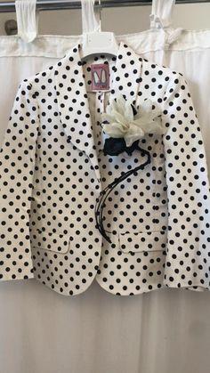 giacca ANGURIA Pois con spilla CARCIOFO