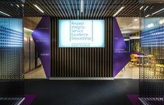 Barclays bank invest in W&Co's tension fabric system lightboxes #lightboxes #barclays