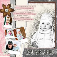 Divine Memories - Divine #Digital #Scrapbooking Layout from Creative Memories    http://www.creativememories.com