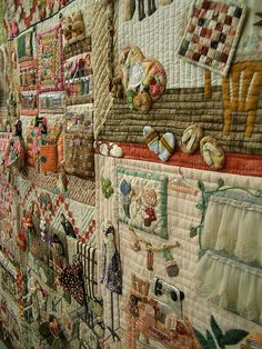 Tokyo International Quilt Festival 2008. Each block is a sewing room. Wonderfully detailed. Patchwork pottery Flickr.com