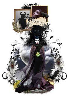 """Maleficent"" by chomiczynka ❤ liked on Polyvore featuring art Maleficent Wings, Malificent, Disney Princess Dolls, Fairytale Fantasies, Walt Disney Studios, Disney Villains, Faeries, Collage Art, Fairy Tales"
