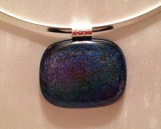 Dichroic Dragonfly Pendant on Etsy, $25.00. SOLD