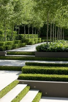 garten anlegen The landscape garden - modern tendencies in gardening Small Garden Landscape Design, Modern Garden Design, Contemporary Garden, Landscape Designs, Modern Landscaping, Backyard Landscaping, Landscaping Ideas, Modern Backyard, Backyard Ideas