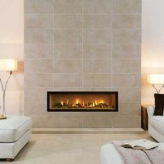 Modern and Sleek Contemporary Fireplaces - Studio Edge Gas Fires - Gazco Built In Fires, Contemporary Fireplaces 2019 trends in fireplaces - modern contemporary fireplaces are heating up! Modern Contemporary Bathrooms, Contemporary Stairs, Contemporary Building, Contemporary Cottage, Contemporary Interior, Contemporary Fireplaces, Contemporary Chandelier, Contemporary Office, Bedroom Modern
