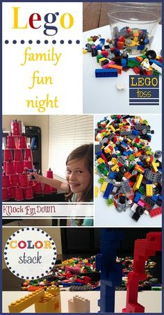 Lego Family Fun Night Family Fun Night should be simple and yet super fun. Use what you have on hand and change it up a bit. This Lego Family Fun Night is the perfect example! Lego Activities, Activity Games, Family Activities, Fun Games, Lego Games, Indoor Activities, Summer Activities, Party Games, Family Movies