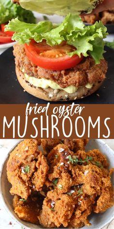Vegan Chicken Recipes, Vegan Fried Chicken, Vegan Recipes Videos, Tasty Vegetarian Recipes, Vegetarian Dinners, Vegan Dinner Recipes, Veggie Recipes, Cooking Recipes, Vegan Recipes Mushrooms