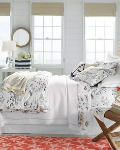 Create a festive guest room with our Harbor Percale Bedding.