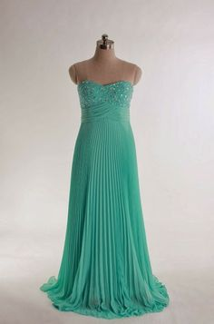Sweetheart beading bodice A-line chiffon gown-this looks just like Laura's prom dress!