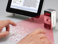 Gadgets: Trying to have a mobile office has never been easier with some new technology that makes your travel computer a snap. Cube Laser Virtual Keyboard - $149
