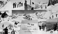 Vintage Snow Basin  Postcard   Skiing, Ski, Utah, Ogden, Snowbasin, Snow Basin