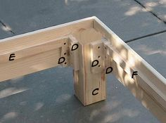 do-it-yourself daybed..could use this technique for stools, benches....awesome!