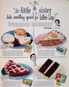 Betty Crocker 1947 Father's Day ad
