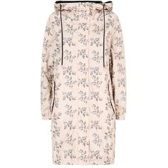 Weekend Max Mara Floral Raincoat found on Polyvore featuring outerwear, coats, pink rain coat, rain coat, rain jacket, floral rain jacket and floral coat