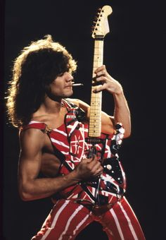 When Van Halen played great music, but had no sense of style...loved him anyway!