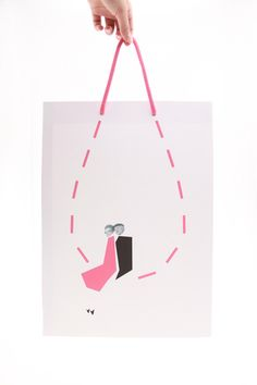 Graphic design by Hami Miharu Matsunaga Luxury Packaging, Bag Packaging, Shopping Bag Design, Shopping Bags, School Slogans, School Advertising, Isetan, Branding, Packaging Design Inspiration