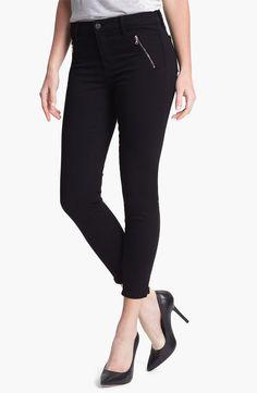 J Brand 'Carey' Zip Detail Moto Skinny Jeans - http://womenspin.com/clothing/pants-shorts/j-brand-carey-zip-detail-moto-skinny-jeans/