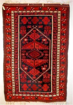 Turkish Yagcibedir rug, Bergama region.