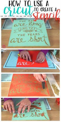 cricut to great a stencil expressions vinyl