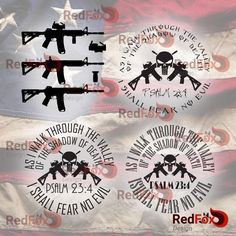 AR-15 Rifle, Scope, Grip, Psalm 23:4 - SVG Cut File, DXF, Png, Eps, Pdf, Ai, Cricut, Silhouette Studio, Instant Download by RedFoxDesignShop on Etsy