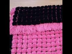 loom board pom pom blanket part 3 - YouTube