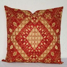 Red and Tan Moroccan 18x18 inch Decorative Pillows  Accent Pillows Throw Pillows Cushion Covers
