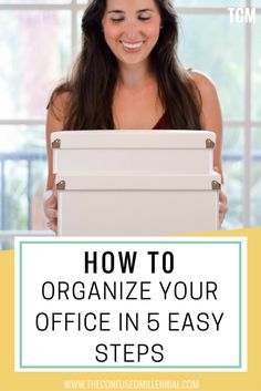 Clutter seems to just collect on my desk, leaving me working in chaos and unable to find anything. Check out how to organize your office in 5 easy steps: