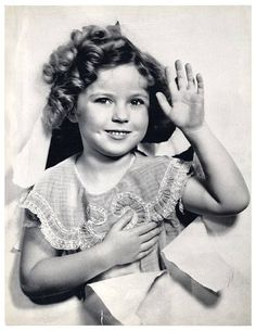 "The original Curly Cutie ""Shirley Temple""."