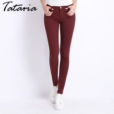 1c7ee27ef4 Jeans Female Denim Pants Candy Color Womens Jeans Donna Stretch Bottoms  Feminino Skinny Pants For Women Trousers 18 Tataria