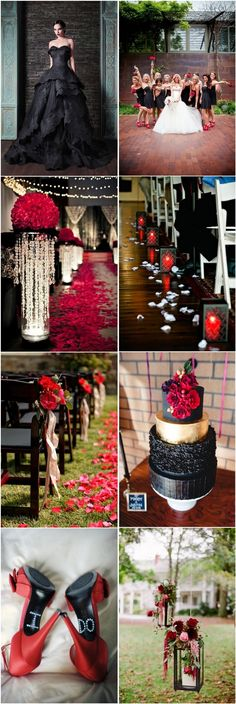 35  Red and Black Vampire Halloween Wedding Ideas | http://www.deerpearlflowers.com/red-and-black-vampire-halloween-wedding-ideas/