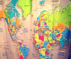 Make the most of your morning shower by brushing up on some global geography with the world map shower curtain. Even if you choose to ignore the educational value altogether, the vibrant colors of the map make for a great way to liven up your bathroom's decor.