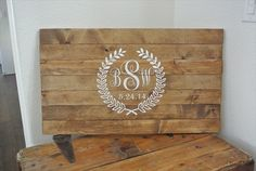 Rustic Wood Guest Book Sign (by Resalvaged)