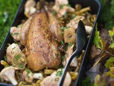 Faisan rôti facile aux champignons Turkey, Meat, Food, Table, Bouquet, Turkey Bird, Recipes, Kitchen, Food Recipes