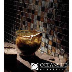 Backsplash  Tessera 1x1 Mosaic, bathroom, closeup, restroom, bathroom backsplash