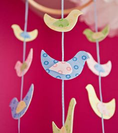 PIN FOR LATER: DIY Bird Mobile | Bird Nursery Ideas from @joannstores | Make your own baby mobile