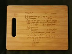 Custom engraved cutting board for Susan from 3DCarving on Etsy