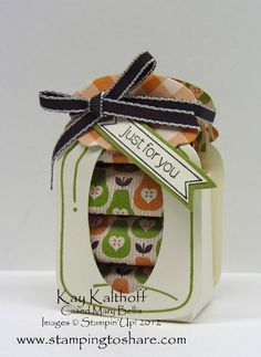 Stamping to Share: 8/20 Stampin' Up! Perfectly Preserved Nugget Jar