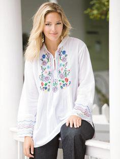 Ulla Popken Women's Embroidered...    $59.00