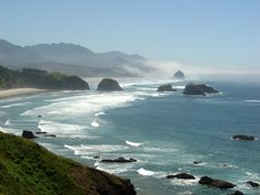 The Oregon coast!  Canon Beach holds a special place in my heart!