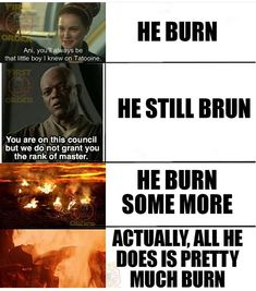 Star Wars or The Toasting of Anakin Skywalker - Star Wars Ewok - Ideas of Star Wars Ewok - Star Wars or The Toasting of Anakin Skywalker Star Wars Jokes, Star Wars Facts, Prequel Memes, Star Wars Pictures, Star Wars Wallpaper, Star War 3, Ewok, Anakin Skywalker, Star Wars Characters