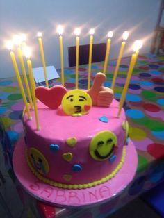 Emoticon cake!!! :-) :-* :O :-P