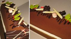yule log cake :: three chocolate mousse Christmas Recipes, Christmas Eve, Fun Food, Good Food, Yule Log Cake, Roll Cakes, Logs, Cinnamon Sticks, Happy Holidays