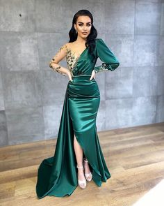 Evening Gowns With Sleeves, Off Shoulder Evening Dress, Sequin Evening Gowns, Glamorous Evening Gowns, Mermaid Evening Gown, Maxi Gowns, Evening Dresses, Gown Dress, Gown With Jacket