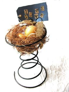 Birdnest Bed Spring Primitive Woodland by WingsWhisperSoftly, $29.00