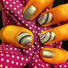 Wisteria and Diamond Dust Sparkle wraps from #Jamberry nail wraps #nailart #manicures.  Http://JamIt247.jamberrynails.net