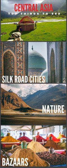 Central Asia #travel #world #destinations #centralasia #silkroad #adventure